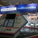 Nippon Steel Engineering Booth at MMMM 2012 New Delhi, India